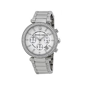 Michael Kors MK5353 Parker Silver Dial Chronograph Watch For Women