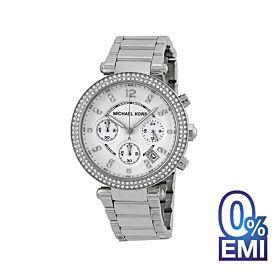 Michael Kors MK5353 Parker Silver Dial Chronograph Watch For Women