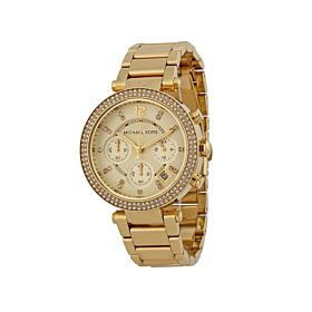 Michael Kors Mk5354 Parker Chronograph Champagne Dial Watch For Women