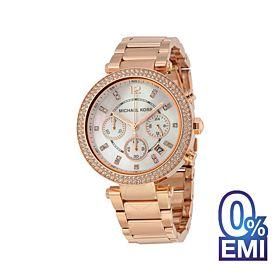 Michael Kors MK5491 Parker Chronograph Rose Gold-Tone Watch For Women