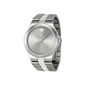 Movado MV0606556 Serio Silver Dial Stainless Steel Men's Watch