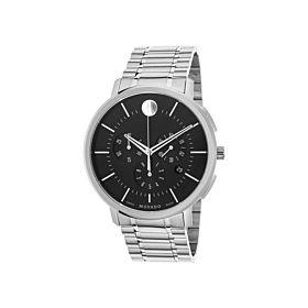 Movado MV0606886 Ultra-Thin Chronograph Black Soleil Dial Men's Watch