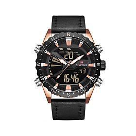 Naviforce NF9136LRGBB Digital & Quartz Men's Watch