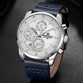 Naviforce Leather Strap Quartz Watch for Men (NF9148 SWBE)
