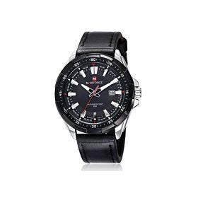 Naviforce Men's Casual Leather Analog Quartz Watch (NF9056 BB)
