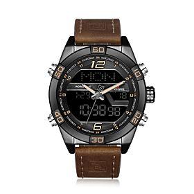 Naviforce Dual Movement Digital and Quartz Watch for Men (NF9128 BYDBN)
