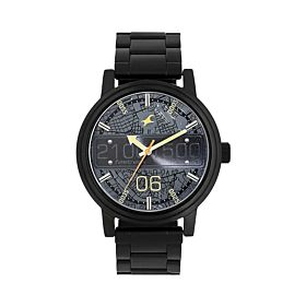 Fastrack NM3199NM03 Road Trip Black Dial Stainless Steel Strap Men's Watch