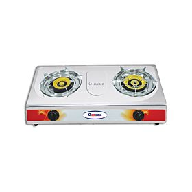 Omera ODB-208 Stainless Steel Auto Double Burner LPG Gas Stove
