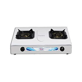 Omera ODB-210 Stainless Steel Auto Double Burner LPG Gas Stove