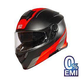 Origine Delta Division Helmets - Glossy Red-Black (Clear Visor)