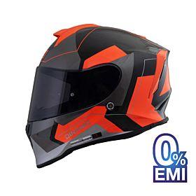 ORIGINE Dinamo Sarcro Helmets – Glossy Black Orange (Clear Visor)