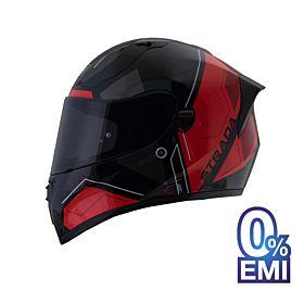Origine Strada Boggoto Helmets – Glossy Black Red (Clear Visor)