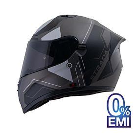 Origine Strada Boggoto Helmets – Matt Black Grey (Clear Visor)