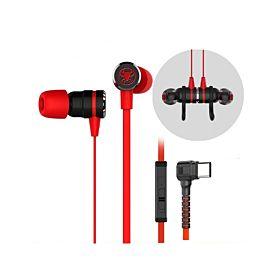 Plextone G20 Magnetic Gaming In-Ear Headphone (TYPE-C)-Red