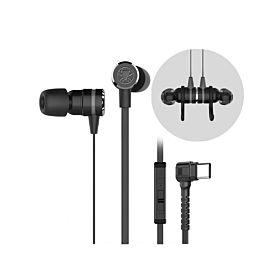 Plextone G20 Magnetic Gaming In-Ear Headphone (TYPE-C) - Black