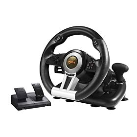 PXN Racing Wheel 180 Degree Universal USB Car Simulator Race Steering Wheel with Pedals for PS3, PS4, Xbox One, Series X/S, Nintendo