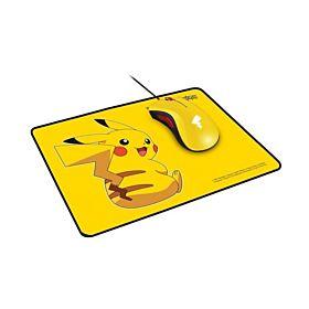 Razer DeathAdder Essential Mouse and Razer Goliathus Speed Pikachu Limited Edition Mat Bundle