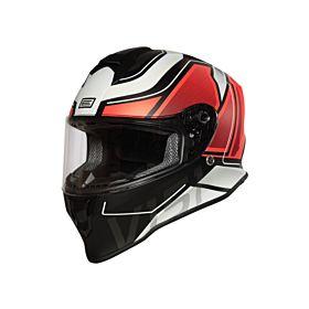 Origine Dinamo Galaxi Red-Black Glossy Helmet - (Clear Visor)