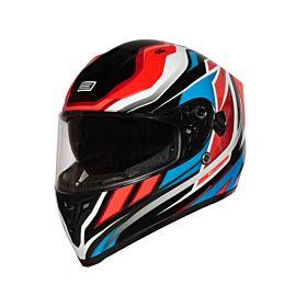Origine Strada Revolution Red-Blue-Black Helmet – (Clear Visor)