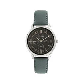 TITAN NM1769SL01 on Trend Black Dial Leather Strap Men's Watch
