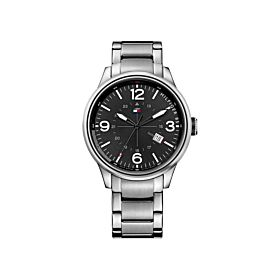 Tommy Hilfiger 1791105 Casual Sport Analog Display Quartz Silver Men's Watch