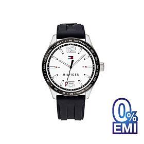 Tommy Hilfiger 1791437 Sport Black Silicone Strap Men's Watch