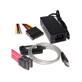 USB 2.0 To SATA & IDE Adapter Cable 3.5 & 2.5 - Black