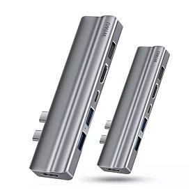 WIWU T9 Ethernet 8 in 1 5K Thunderbolt3 perfect MacBook pro USB-C Hub